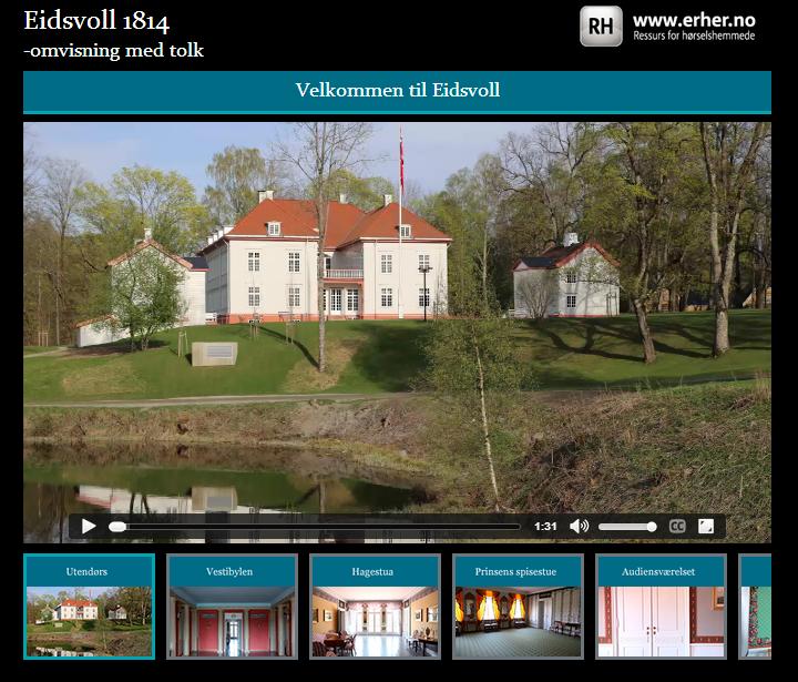 Start - Eidsvoll 1814 – omvisning med tolk