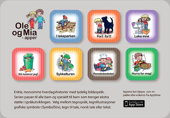 Vis Ole og Mia -apper i iTunes / App Store