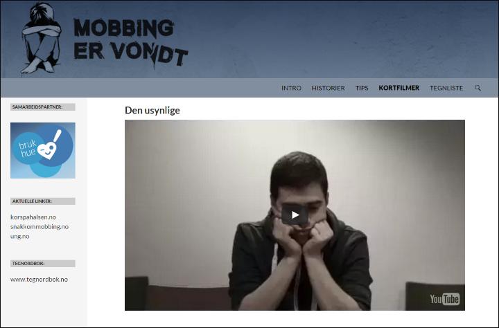 Mobbing er vondt - Gå til nettsted
