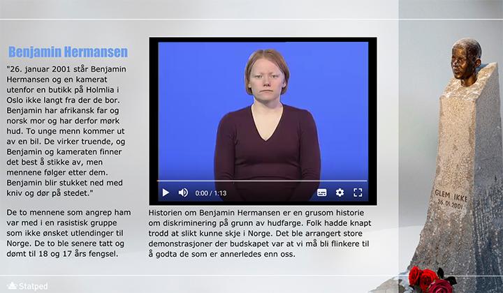 skjermdump av presentasjon